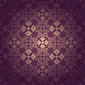 Seamless floral baroque purple background Stock Photography