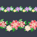Seamless floral border Stock Photo