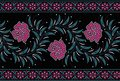 Seamless floral border with black color