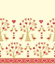 Seamless floral border composition for scrapbook paper design batik cards decoupage Royalty Free Stock Images