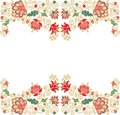 Seamless floral border decor Royalty Free Stock Photo
