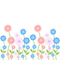 Seamless floral border pattern Royalty Free Stock Photography