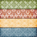 Seamless floral borders Royalty Free Stock Photos