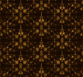 Seamless floral on a brown background. Vector Royalty Free Stock Photo