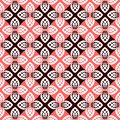 Seamless floral checked pattern. Royalty Free Stock Photo