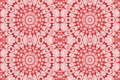 Seamless floral circle ornaments pink red