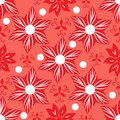 Seamless floral coral background