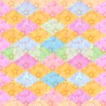 Seamless floral and geometric pattern. Background with flowers