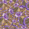 Seamless floral lilac pattern endless fantasy Royalty Free Stock Photography