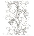 Seamless floral monochrome patterт