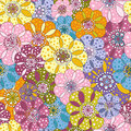 Seamless floral motley pattern Royalty Free Stock Photography
