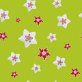 Seamless floral pattern the a Stock Photography