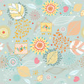 Seamless floral pattern autumn Stock Images