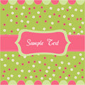 Seamless floral pattern, baby card Stock Photos