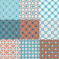 Seamless floral pattern background vector. Set of colorful variations. Royalty Free Stock Photo