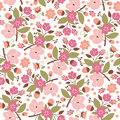 Seamless floral pattern beaity background Stock Photography
