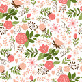 Seamless floral pattern beauty background Stock Photos