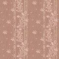 Seamless floral pattern on beige background Stock Photos
