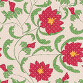 Seamless floral pattern on beige background Royalty Free Stock Images