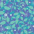Seamless floral pattern in blue Royalty Free Stock Photo