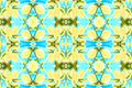 Seamless Floral pattern blue yellow