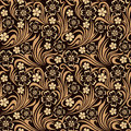 Seamless floral pattern brown Royalty Free Stock Photography