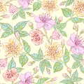 Seamless floral pattern this is file of eps format Royalty Free Stock Images