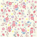 Seamless floral pattern flower background greeting card design Stock Image