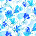 Seamless floral pattern with Flowers in watercolor style