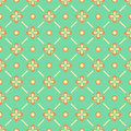 Seamless floral pattern with geometric stylized flowers can be used to fabric design wallpaper decorative paper web design etc Stock Photos