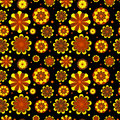 Seamless floral pattern with geometric stylized flowers can be used to fabric design wallpaper decorative paper web design etc Stock Images