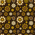 Seamless floral pattern with geometric stylized flowers can be used to fabric design wallpaper decorative paper web design etc Royalty Free Stock Image