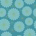 Seamless floral pattern with geometric stylized flowers can be used to fabric design wallpaper decorative paper web design etc Stock Photography