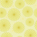 Seamless floral pattern with geometric stylized flowers can be used to fabric design wallpaper decorative paper web design etc Royalty Free Stock Photography