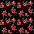 Seamless floral pattern with hibiscus on white background Stock Photography