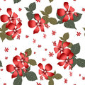 Seamless floral pattern with hibiscus on white background Stock Images