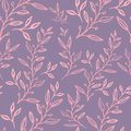 Seamless floral pattern with leaves
