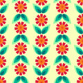 Seamless floral pattern with leaves and flowers stylized can be used to fabric design wallpaper decorative paper web design etc Royalty Free Stock Image