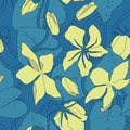 Seamless floral pattern_moonflower Royalty Free Stock Photo