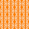 Seamless Floral Pattern orange background Stock Photo