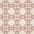 Seamless floral pattern with ornate florid elements in brown and rose pink shades Royalty Free Stock Photos