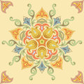 Seamless floral pattern in pastel colors. Mandala Stock Images