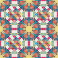 Seamless floral pattern. Patchwork texture. Mosaic.