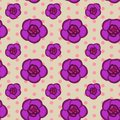 Seamless floral pattern with pink achimenes flowers