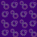 Seamless floral pattern purple yellow