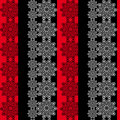 Seamless floral pattern red black Stock Image