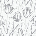Seamless floral pattern with tulips Stock Photography