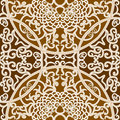 Seamless floral pattern vector brown traditional background Royalty Free Stock Images