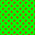 Seamless floral pattern vector design vibrant colorful background with red and yellow hand drawn spring flowers