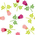Seamless floral pattern vector with roses Stock Photos